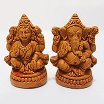 Earthen Laxmi Ganesha