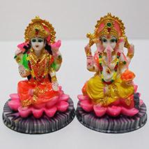 Vibrant Laxmi Ganesha