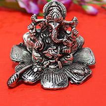 Silver Metallic Ganesha