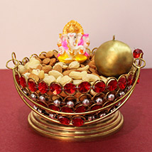 Golden Dry Fruit Basket