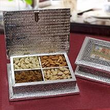 Silver Dry Fruit Box