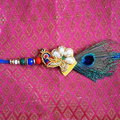 Peacock Zardosi Rakhi /></a></div><div class=