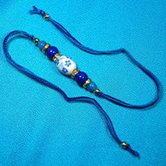 Blue Beaded Rakhi /></a></div><div class=