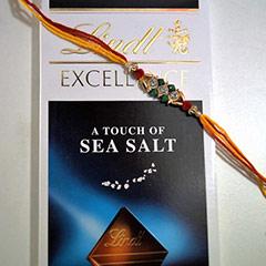 Elegant Rakhi & Lindt Chocolates /></a></div><div class=