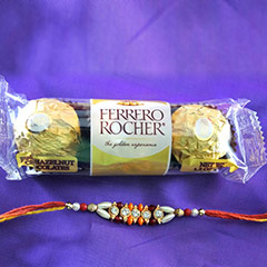 Rakhi + 3pc Ferrero Rocher /></a></div><div class=