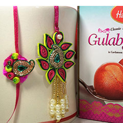 Exotic Paper Rakhi with Haldiram Gulab Jamun /></a></div><div class=