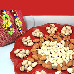 Bhaiya Bhabhi Rakhi with Dry fruits /></a></div><div class=