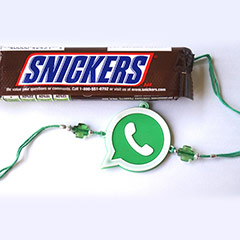 Whatsapp Rakhi with Snickers /></a></div><div class=