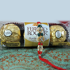 Rakhi + 3pc Ferrero Rocher /></a></div><div class=