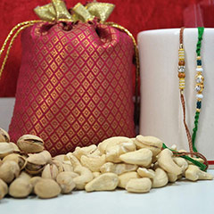 Rakhi pair with Cashew and Pista /></a></div><div class=