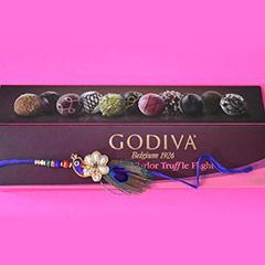 Rakhi with Godiva Truffles /></a></div><div class=