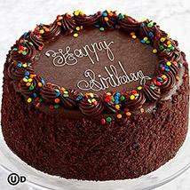 Chocolate Happy Birthday Cake