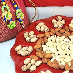 Bhaiya Bhabhi Rakhi with Dry fruits /></a></div><div class=
