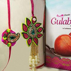 Bhaiya Bhabhi Rakhi with Gulab Jamun /></a></div><div class=