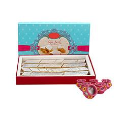 1 kg Kaju Katli & Diya - Diwali Gifts