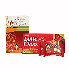 Choco Pie & greeting card - Diwali Gifts
