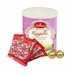 Rasgulla, Kitkat & Candles - Diwali Gifts