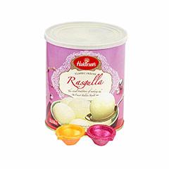 1 kg Rasgulla & Diyas - Diwali Gifts