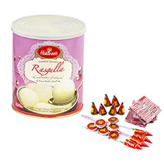 Rasgulla & Crackers - Diwali Gifts