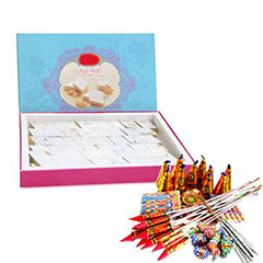 1kg Kaju Katli & Crackers - Diwali Gifts
