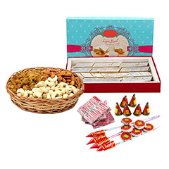 Sweets With Dryfruits N Crackers - Diwali Gifts