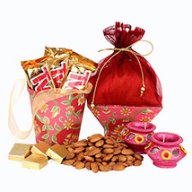 Chocolates, Almonds & Diyas
