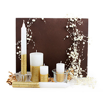 Candle Set & Tray