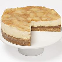 Caramel Toffee Apple Cheesecake