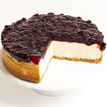 Skinny Blackcurrant Blast Cheesecake