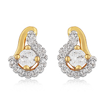 Floral Paradise Gold Plated Stud Earrings for Women