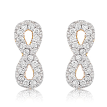 Infinity Gold Plated Stud Earrings for Women
