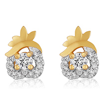 Florel Glow Gold Plated Stud Earrings for Women