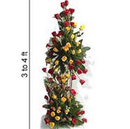 Life size arrangement - Red n Yellow