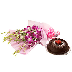 Exotic Orchids n Cake Hamper