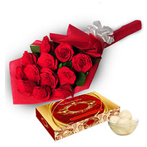 Roses with Rasgulla EXDFNP107