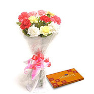 Carnations N Chocolates