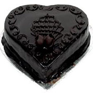 Eggless Heart Shape Chocolate Cake
