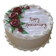 1 Kg Round Vanilla Cake