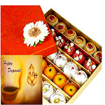 Rakhi with 1 Kg Assorted Sweets /></a></div><div class=