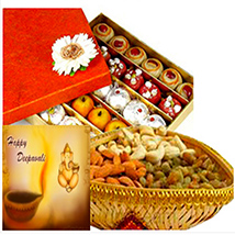 Diwali with Sweets and Dry Fruits