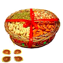 Rakhi With Mixed Dry Fruits