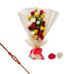 Rakhi with 20 Mixed Roses