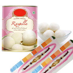 Rakhi with 1 Kg Rasgulla