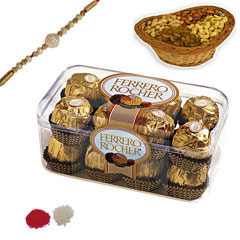 Rakhi with Ferrero Rocher and Dryfruits