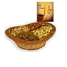 Diwali with Big basket of Dry Fruits