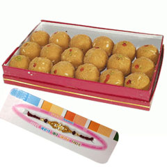 Rakhi with 1Kg Besan Laddu