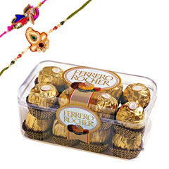 Rakhi with Ferrero Rocher /></a></div><div class=