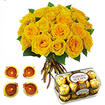 Diwali with ferrero and Flower