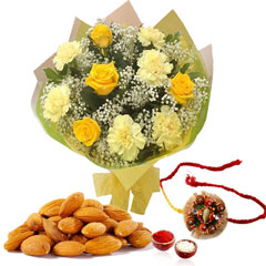 Flower with Dryfruits and Rakhi /></a></div><div class=