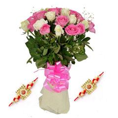 Mix Roses with Free Rakhi